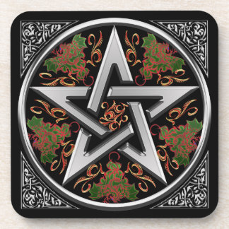 Celtic Dragon Pentagram Coaster