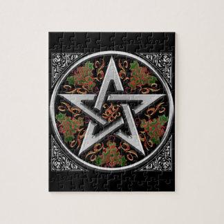 Celtic Dragon Pentagram Puzzle
