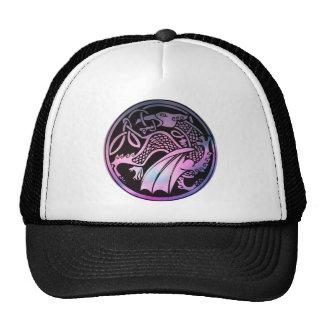 Celtic Dragon Round Mesh Hats