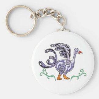 Celtic Duck Basic Round Button Key Ring