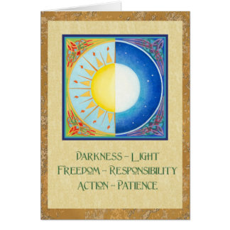 Celtic Equinox Sun and Moon Card