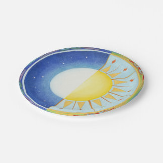 Celtic Equinox Sun and Moon Paper Plates 7 Inch Paper Plate