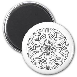 Celtic flower 6 cm round magnet