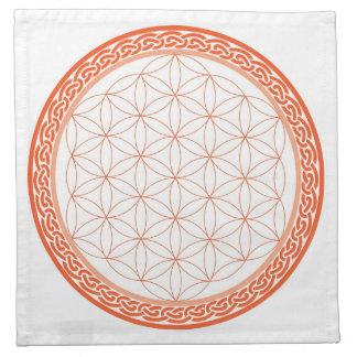 Celtic Flower of Life for Creativity/Relationships Napkin