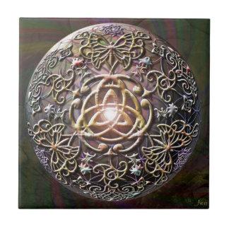 Celtic Flower of Life Small Square Tile