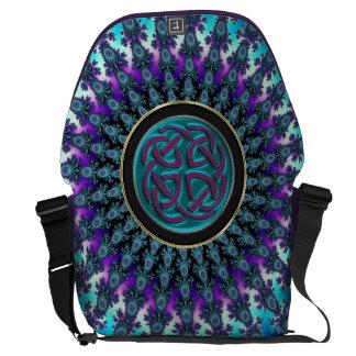 Celtic Fractal Radiant Cool Star Knot Courier Bags