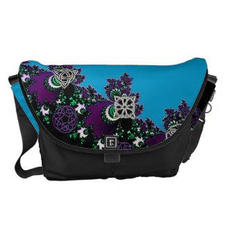 Celtic Fractal With Mystical Symbols Messenger Bag