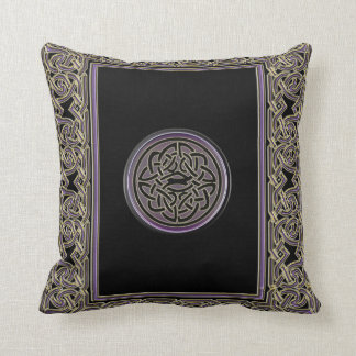 Celtic Frame and Metallic Celtic Knot Throw Pillow