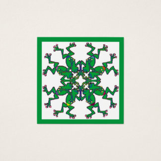 Celtic frogs synchronised swimming square business card