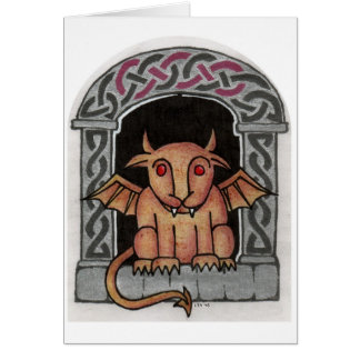 Celtic Gargoyle card