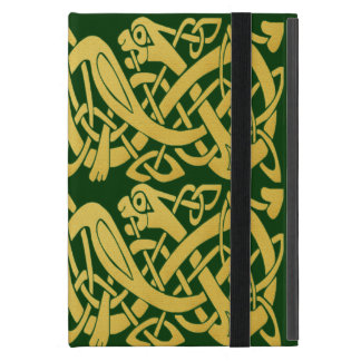 Celtic Golden Snakes iPad Mini case w/ kickstand