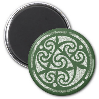 Celtic Green A 6 Cm Round Magnet