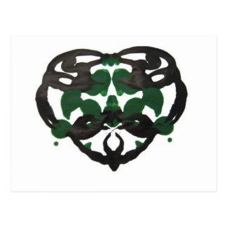 Celtic Green Inkblot Postcard