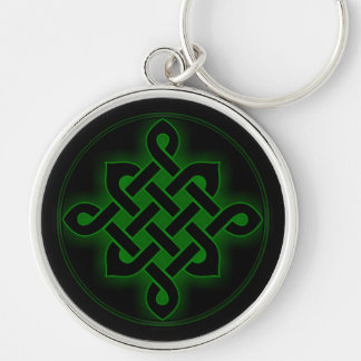 celtic green knot mystic viking symbol spiritual p Silver-Colored round key ring