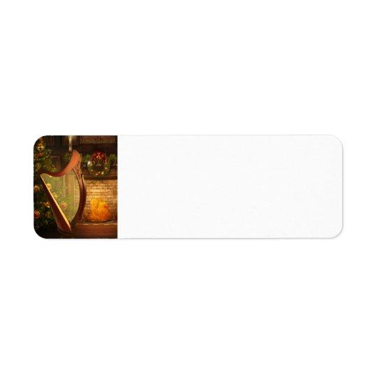 Celtic Harp Return Address Label