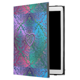 "Celtic Heart Knot on Colorful Metallic Damask iPad Pro 12.9"" Case"
