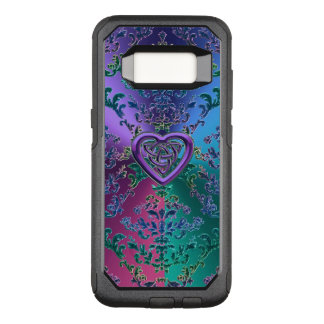 Celtic Heart Knot on Colourful Metallic Damask OtterBox Commuter Samsung Galaxy S8 Case