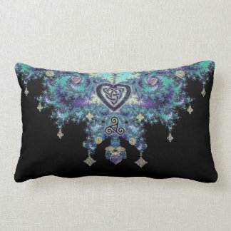 Celtic Heart Knot Triskele Fractal Throw Pillow