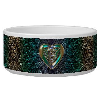 Celtic Heart Mandala In Green and Gold Original
