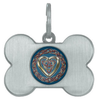 Celtic Heart Pet Tag