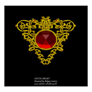CELTIC HEART POSTER