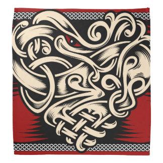 Celtic Heart red black white Bandana