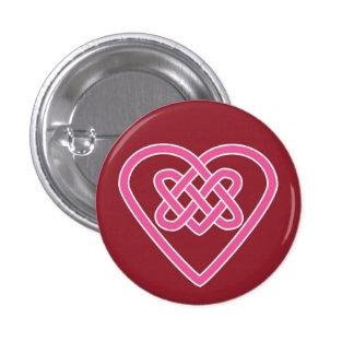 Celtic Heart Round Button