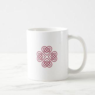 Celtic Hearts Basic White Mug