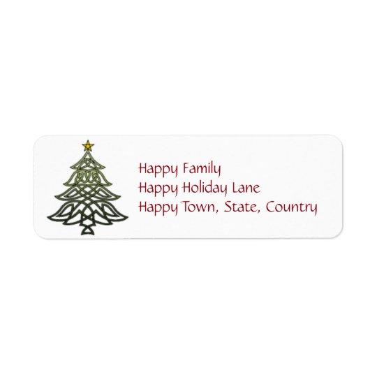 Celtic Holiday Labels