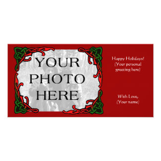 Celtic Holiday Photo Greeting Personalised Photo Card