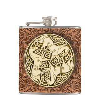 Celtic Horses Flask