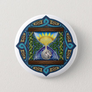 Celtic Hourglass 6 Cm Round Badge