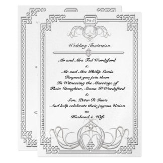 Celtic Ice Wolf Wedding Invitation