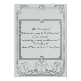 Celtic Ice Wolf Wedding Set R.S.V.P 13 Cm X 18 Cm Invitation Card