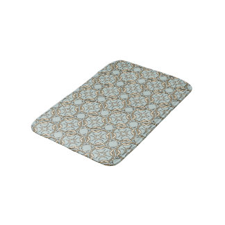 Celtic Inspired Interlocking Graphic Cream Black Bath Mat