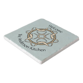 Celtic Inspired Interlocking Graphic Personalized Trivets