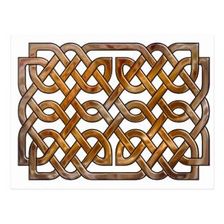 celtic interlaced  knotwork postcard