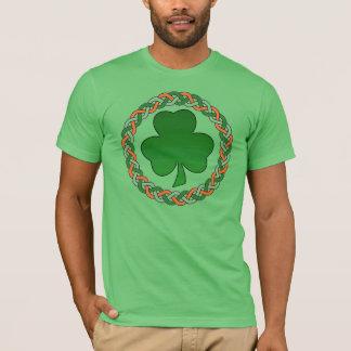 Celtic irish circle shamrock guys holiday tee