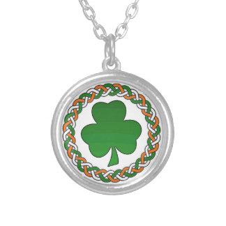 Celtic Irish colors shamrock keepsake necklace
