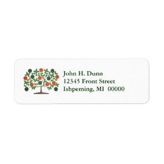 Celtic Irish Family Tree Green & Orange Labels
