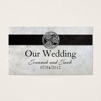 Celtic Irish Knot Wedding Website Card