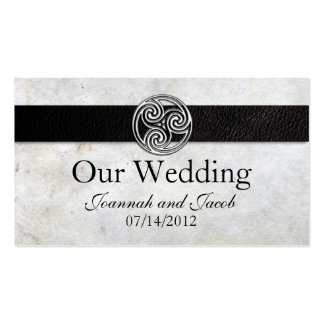 Celtic Irish Knot Wedding Website Card Business Cards