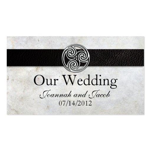 Celtic Irish Knot Wedding Website Card Business Cards