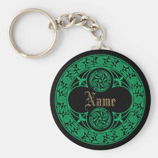 Celtic Irish Personalized Name Key Ring