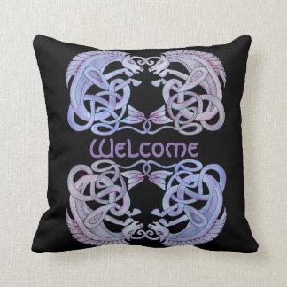 Celtic Kelpies Throw Pillow