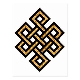 Celtic Knot 10 Gold Postcard