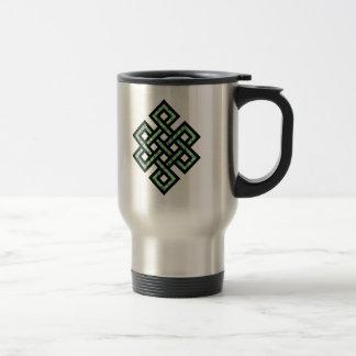 Celtic Knot 10 Green Mugs