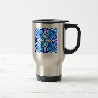 Celtic Knot 3 Blue Coffee Mugs