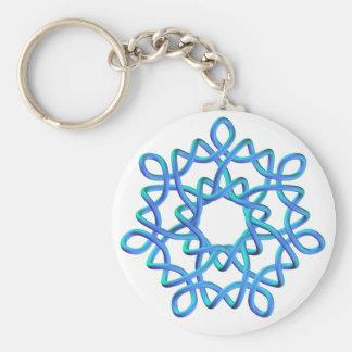 Celtic Knot 4 Blue Key Ring