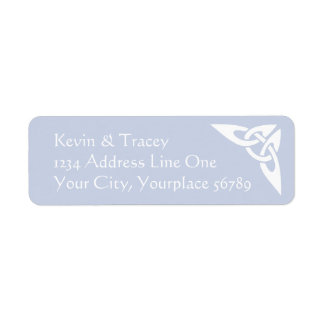 Celtic Knot Address Label - Mist